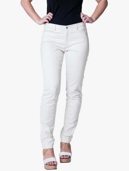 Hlače Slim Fit White-0
